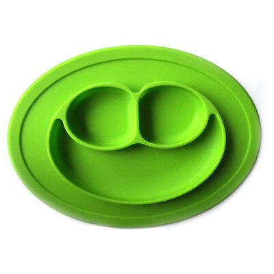 FDA Fancy Mat Silicon Lovely Silicone Suction Bowl Plate With Divider Baby Kids