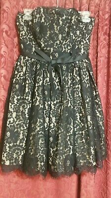 4d631ad168b NWT Neiman Marcus Robert Rodriguez Black Lace   Tan Party Dress Women s size  2