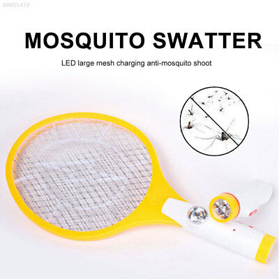 9C8B LED Rechargeable Electric Swatter Insect Bat Wasp Zapper Fly Mosquito