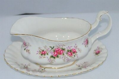Royal Albert Lavender Rose Gravy Boat & Tray/ Underplate England ( 2 Available)