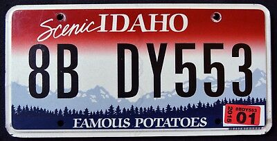 """IDAHO """" FAMOUS POTATOES - SCENIC - MOUNTAINS """" 2015 ID Graphic License Plate"""