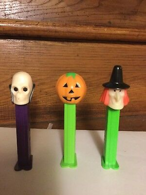 Halloween Pez Dispenser Witch ~skull-pumpkin