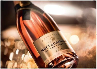 Moet Necter Rose Imperial Champagne DOUBLE MAGNUM 3L BOTTLE and COLLECTOR'S BOX