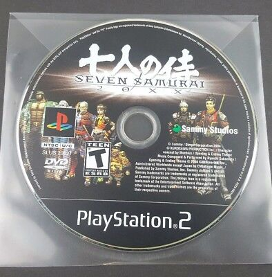 Seven Samurai 20XX (Sony PlayStation 2, 2004) PS2 Game - Disc Only