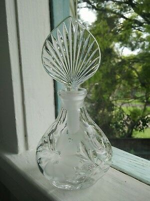 Vintage Crystal glass perfume bottle Excellent