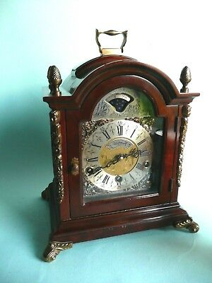Vintage Wuba 3 Train bracket clock 1/4 strike with westminster chimes...ref.1508