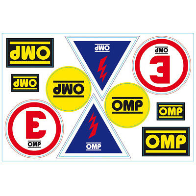 OMP Scrutineer Sticker Decal Sheet Race / Rally
