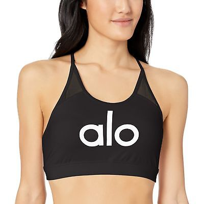 67540c74fb99b Alo Yoga Women s Starlet Bra Black Alo White Small