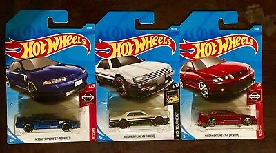 THREE GTR HOT Wheels Nissan Skyline First New Models Lot R30 R32 R33
