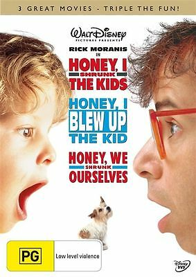 *New & Sealed* Honey, I Shrunk The Kids 1-2-3 Trilogy (DVD, 2009, 3-Disc Set)