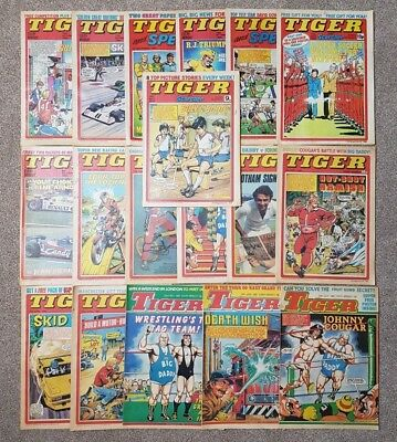 18 x Tiger and Scorcher Comics - Mixed issues from 1979 - 1982 - Lot #15