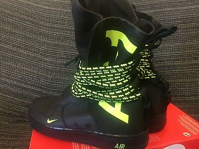 NIKE AIR FORCE 1 SF Hi Men's Black Volt EU 42,5 UK 8 US 9