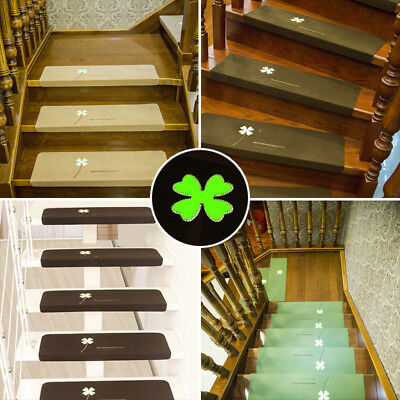 Indoor Step Rugs Rubber Mat Stair Treads Scrolled Non Skid Grip Adhesive 55*22cm