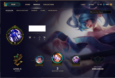 (EUW) Unranked | League of Legends Account | 69 Champs | 15 Skins