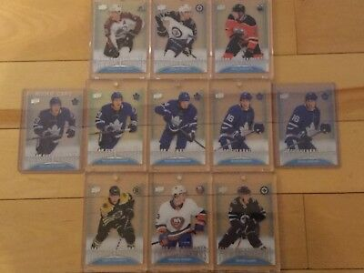 2018-19 UD Tim Hortons Clear Cut Phenoms Lot of 11 cards
