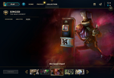 (EUW) Riot Squad Singed | League of Legends Account | 3 Champs | 3 Skins