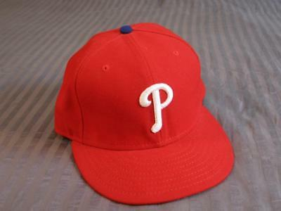 f92ef455de0fd1 PHILADELPHIA PHILLIES MLB Fitted Hat New Era 59FIFTY Size 7 3/8 ...
