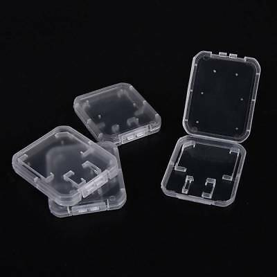 20 x Micro SD SDHC Memory Card Case Holder Box Storage Hard Plastic Transparent