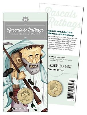 2018 $1 One Dollar 'M' Rascals and Ratbags Uncirculated Coin