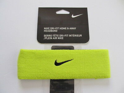 Nike Dri-Fit Home   Away Reversible Headband Lime Yellow Black New 4f54be1567d