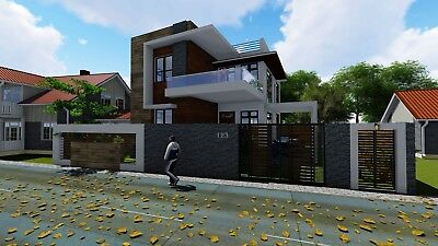 Modern House Plan PDF total 1548 SF New Smart Home Complete House Plan 2-story