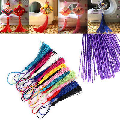 30pcs/lot Polyester 13cm Silk Tassels Fringe Tassels For Sewing Jewelry Crafts