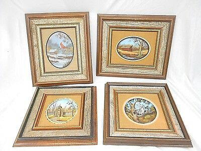 G. Blaylock Signed Originals, Oil On Board, 1979, Lot Of 4, With Matching Frames