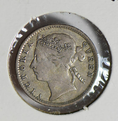 Straits Settlements 1894 10 Cents silver  S0267 combine shipping
