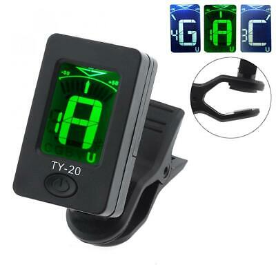 Portable Clip-on Guitar Tuner Double Color Backlighting for Chromatic/Guitar