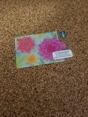 Starbucks Card Spring Flowers New Pin Intact
