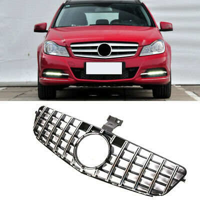 GTR Front Grille Grill For Mercedes-BenZ W204 C180 C200 C250 C300 C350 2007-2013