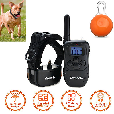 Remote Electric LCD Dog Shock Training Collar Waterproof Rechargeable 330 Yard