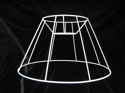 "Straight Empire Lampshade Frame  18"" Base"