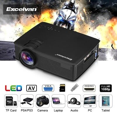 Excelvan 5000 Lumens 1080P 3D mini LED Projector Video Home Theater HDMI/USB/SD