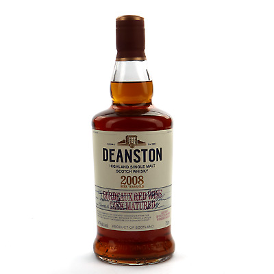 Deanston 2008 Bordeaux Red Wine Cask Matured 9 Year Old Scotch Whisky 750mL