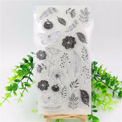 Feather Flower Silicone Clear Transparent Seal DIY Stamp Sheet Photo Album Card