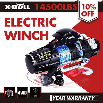X-BULL Electric Winch 14500LBS Waterproof IP6712V Synthetic Rope 4WD OFF ROAD