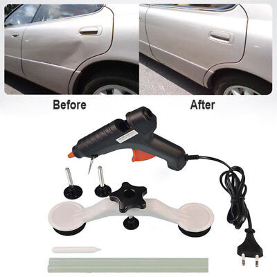 Car Body Dent Repair Kit Dent Puller Tool with Hot Melt Glue Gun Glue Sticks IBV