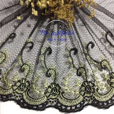 Flower Embroidery Lace Edge Trim Ribbon Fabric Tulle Craft Sewing Craft DIY A143