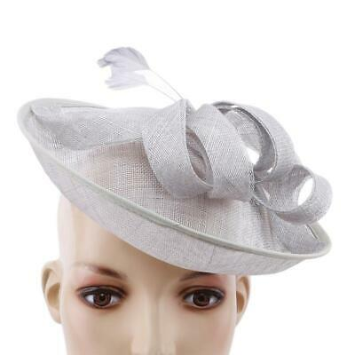 Wedding Races Party  Veil Net Flower Hat with Feather Hatinator Fascinator T