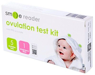 Smilereader Ovulation Test Strips with Fertility Tracking App(5 LH + 1 hCG) SALE
