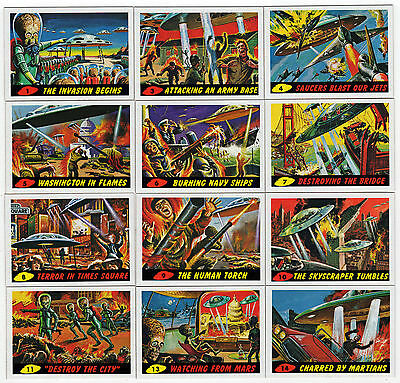 2012 Topps Heritage MARS ATTACKS 50th Anniversary 1962 Reissue 55 Card Base Set