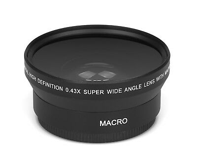 0.43x - 67mm HD Real Glass Branded Optics Wide Angle Macro Resolution Lens Lens