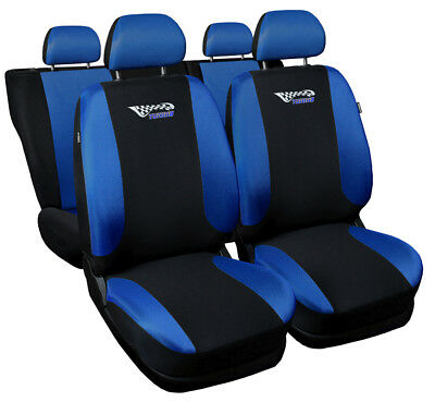 CAR SEAT COVERS fit Toyota Prius blue/black sport style full set