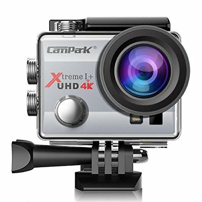 Campark ACT74 Action Kamera WiFi 1080P Sports Cam 4K Camera 16MP Ultra(Silver)