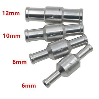 1Pcs 6/8/10/12mm Alloy Fuel Non Return Check Valve One Way Fit For Carburettor