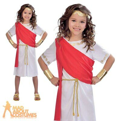 Child Toga Girl Costume Girls Greek Goddess Roman Book Week Day Kids Fancy Dress