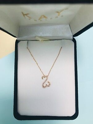 0ce2bba7c 10K Rose Gold Diamond Pendant Necklace | Kay Jewelers Jane Seymour Open  Hearts