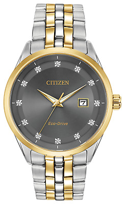 Citizen Corso Diamond Grey Dial Two-tone Men's Watch BM7258-54H New