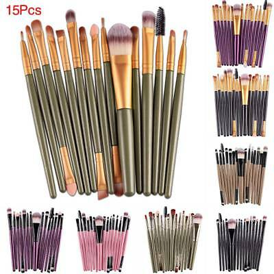 15tlg Kosmetik Makeup Lidschattenpinsel Schminkpinsel Pinsel Set Brush Geschank